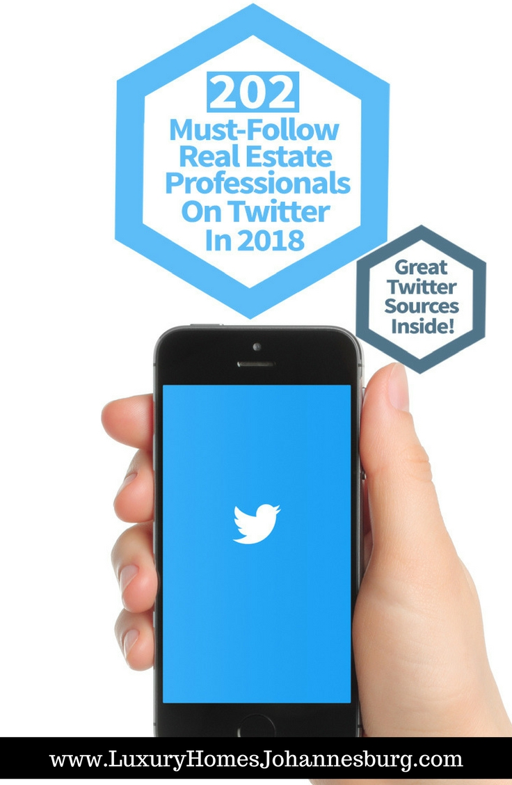 Real Estate Professional : Must follow real estate professionals on twitter in